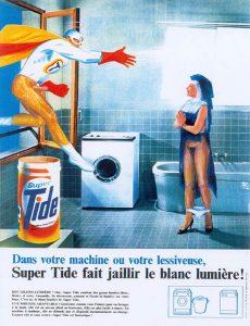 Luis Pita | Intervenciones | Interventions | serie «Lencería y accesorios para esclavas del hogar» (1990) | Detergente Super Tide | series «Lingerie and accessories for household slaves» | Super Tide Soap