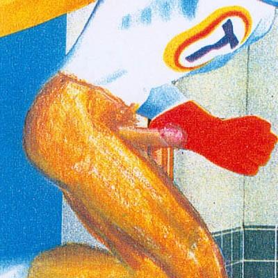 Luis Pita | Intervenciones | Interventions | serie «Lencería y accesorios para esclavas del hogar» (1990) | Detergente Super Tide (fragmento) | series «Lingerie and accessories for household slaves» | Super Tide Soap (fragment)