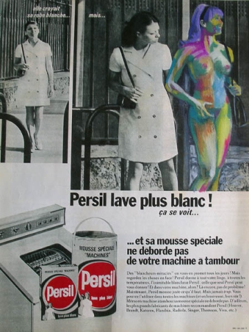 Luis Pita | Intervenciones | Interventions | serie «Lencería y accesorios para esclavas del hogar» (1990) | Detergente Persil | series «Lingerie and accessories for household slaves» | Persil Soap