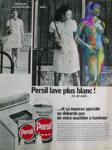 Luis Pita | Intervenciones | Interventions | serie «Lencería y accesorios para esclavas del hogar» (1990) | Detergente Persil | series «Lingerie and accessories for household slaves» | Persil Soap
