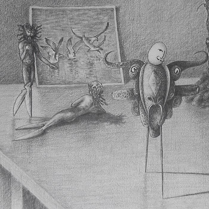 Luis Pita   Dibujos a lápiz   Pencil Drawings   Sujetos de escritorio 1 (1980)   Subjects of escritoire 1 (1980)