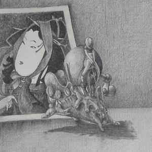Luis Pita   Dibujos a lápiz   Pencil Drawings   Sujetos de escritorio 2 (1980) (fragmento)   Subjects of escritoire 2 (1980) (fragment)