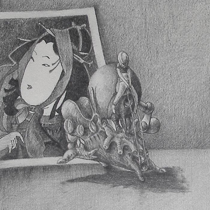Luis Pita   Dibujos a lápiz   Pencil Drawings   Sujetos de escritorio 2 (1980)   Subjects of escritoire 2