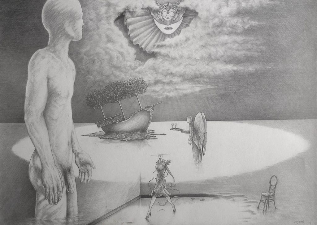 Luis Pita | Dibujos a lápiz | Pencil Drawings | Sin título (1983) | Untitled (1983)
