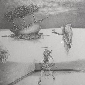 Luis Pita | Dibujos a lápiz | Pencil Drawings | Sin título (1983) (fragmento) | Untitled (1983) (fragment)