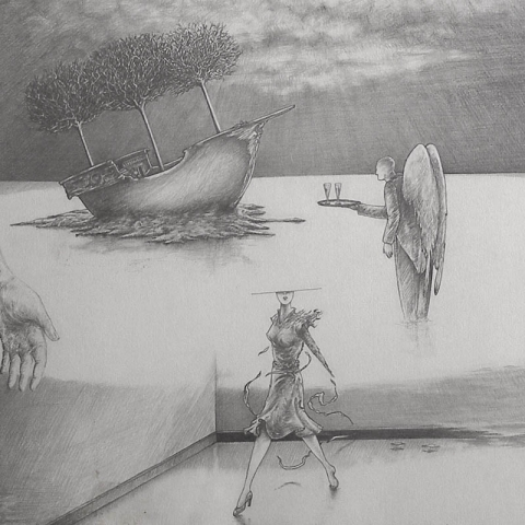 Luis Pita | Dibujos a lápiz | Pencil Drawings | Sin título (1983) | Untitled (1983)