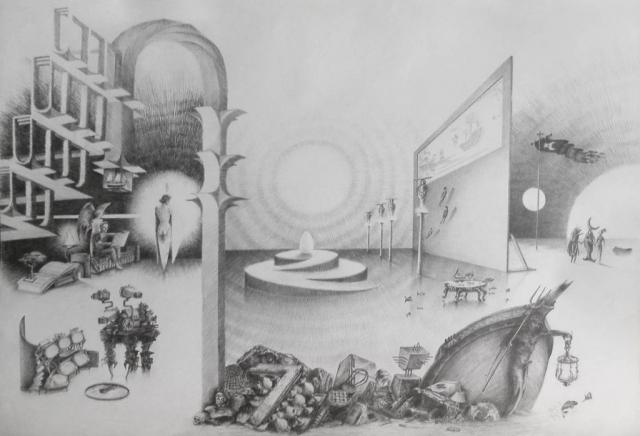 Luis Pita | Dibujos a lápiz | Pencil Drawings | Historia sin título (1993) | Untitled history