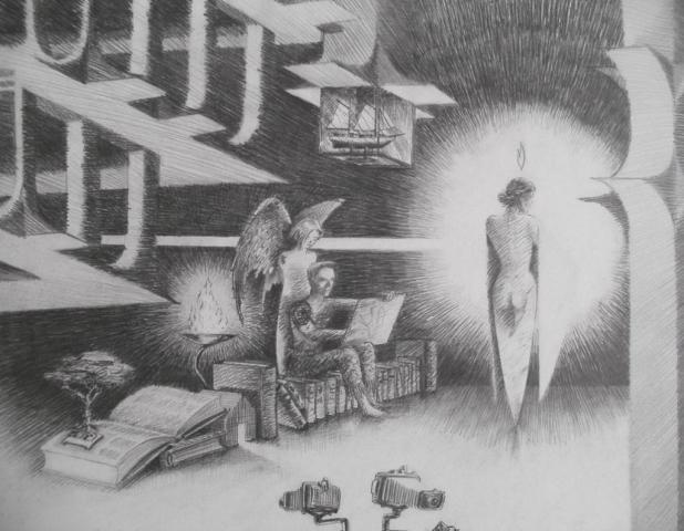 Luis Pita | Dibujos a lápiz | Pencil Drawings | Historia sin título (1993) | Untitled history (1993)