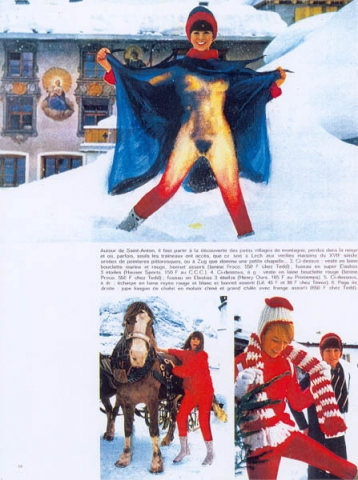 Luis Pita | Intervenciones | Interventions | serie «Los locos años 60'» (1991) | Moda en la nieve 2 | series «The roaring 60's» | Fashion on the snow 2