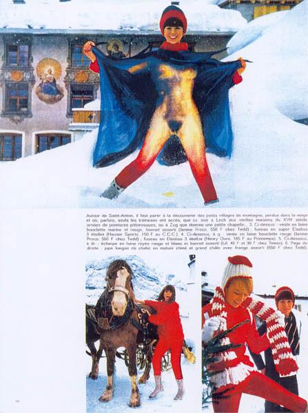 Luis Pita | Intervenciones | Interventions | serie «Los locos años 60'» (1991) | Moda en la nieve 2 | series «The roaring 60's» | Fashion on the snow 2