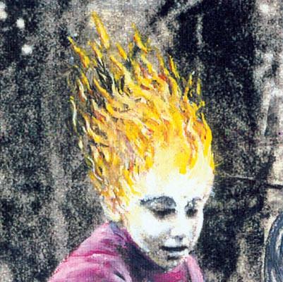 Luis Pita | Intervenciones | Interventions | serie «Los locos años 60'» (1991) | Niño de Fuego | series «The roaring 60's» | Child of Fire