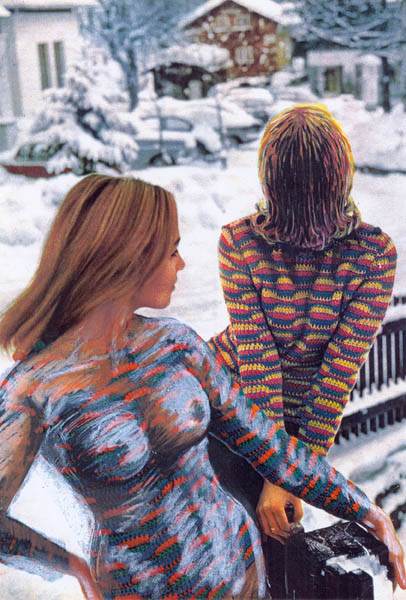 Luis Pita | Intervenciones | Interventions | serie «Los locos años 60'» (1991) | Moda en la nieve 1 | series «The roaring 60's» | Fashion on the snow 1