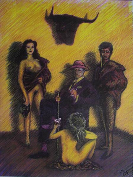Luis Pita | Intervenciones | Interventions | serie «Los locos años 30'» (1991) | Ganadero | series «The roaring 30's» | Cattle Rancher