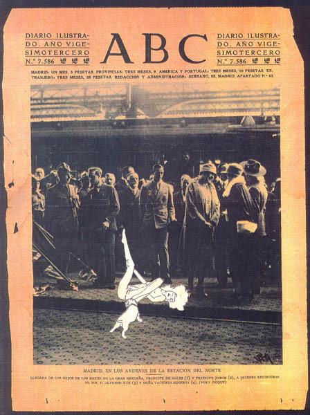 Luis Pita | Intervenciones | Interventions | serie «Los locos años 30'» (1991) | Estación del Norte | series «The roaring 30's» | North Train Station