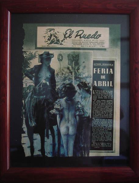 Luis Pita | Intervenciones | Interventions | serie «Los locos años 30'» (1991) | Feria de Abril | series «The roaring 30's» | April\'s Fair