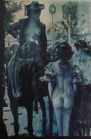Luis Pita | Intervenciones | Interventions | serie «Los locos años 30'» (1991) | Feria de Abril | series «The roaring 30's» | April's Fair