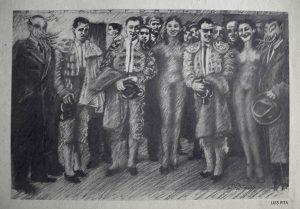 Luis Pita | Intervenciones | Interventions | serie «Los locos años 30'» (1991) | Toreros | series «The roaring 30's» | Bullfighters