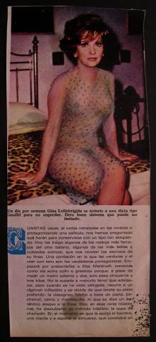 Luis Pita | Intervenciones | Interventions | serie «Los locos años 60'» (1991) | series «The roaring 60's» | Gina Lollobrigida