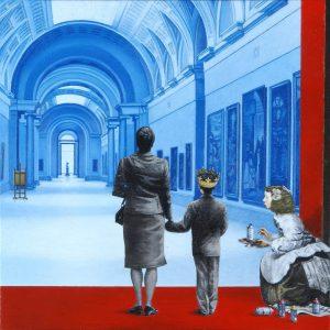 Luis Pita | Pintura | Painting | No Time For Television | Óleo sobre lienzo (50x50cm) | Oil on canvas
