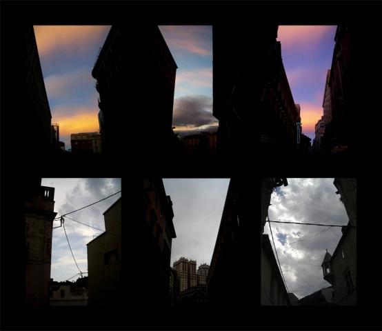 Luis Pita   Series Fotográficas   Photographical series   Trazos de realidad   Strokes Of Reality   Seis Cielos Nº 1 (2007) Triptico Doble   Six Skies
