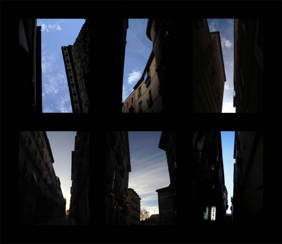 Luis Pita | Series Fotográficas | Photographical series | Trazos de realidad | Strokes Of Reality | Seis Cielos Nº 2 (2007) Triptico Doble | Six Skies