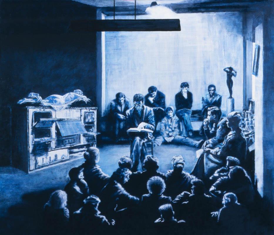 Luis Pita | Pintura | Painting | El BEATNIKS | Óleo sobre papel sobre madera (50x35cm) | Oil on paper on wood