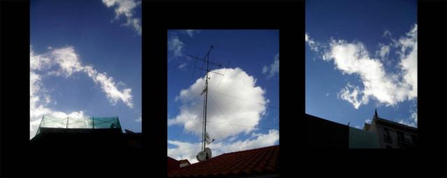 Luis Pita   Series Fotográficas   Photographical series   Trazos de realidad   Strokes Of Reality   Nube Redonda (2007) Triptico   Round Cloud
