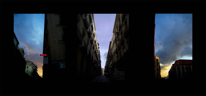 Luis Pita   Series Fotográficas   Photographical series   Trazos de realidad   Strokes Of Reality   Triple Atardecer (2007) Triptico   Triple Sunset