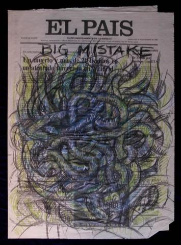 Luis Pita | Intervenciones sobre papel de periódico | Interventions on newspaper | Big Mistake (1994)