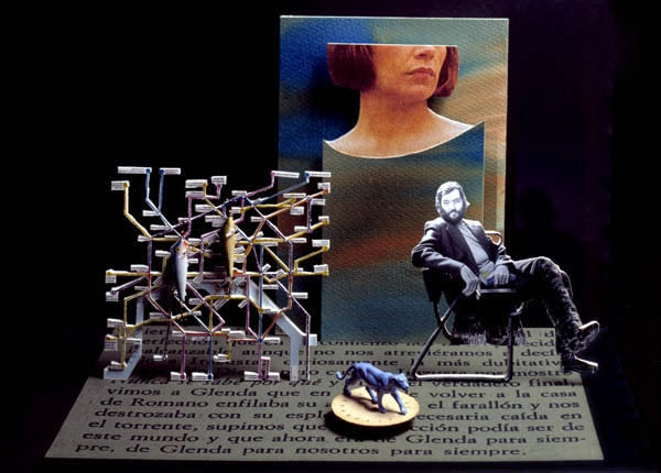 Luis Pita | Ilustración Editorial | Book Cover Illustration | Montaje tridimensional para cubierta de libro | 3-Dimensional Assemblies for book illustration | Cuentos Completos | Julio Cortázar | Alfaguara | Grupo Santillana Publisher Group (VOLUMEN 2)