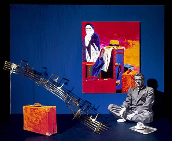 Luis Pita | Ilustración Editorial | Book Cover Illustration | Montaje tridimensional para cubierta de libro | 3-Dimensional Assemblies for book illustration | Cuentos Completos | Paul Bowles | Alfaguara | Grupo Santillana Publisher Group