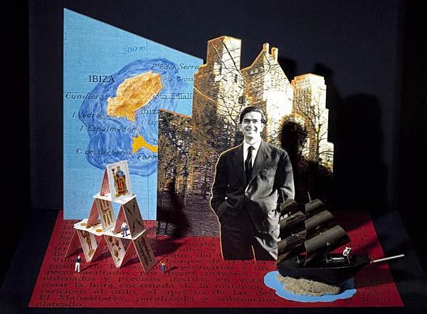 Luis Pita | Ilustración Editorial | Book Cover Illustration | Montaje tridimensional para cubierta de libro | 3-Dimensional Assemblies for book illustration | Cuentos Completos | Ignacio Aldecoa | Alfaguara | Grupo Santillana Publisher Group