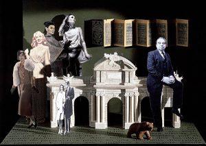 Luis Pita | Ilustración Editorial | Book Illustration | Montaje tridimensional para cubierta de libro | 3-Dimensional Assemblies for book illustration | Cuentos Completos | Hortelano | Alfaguara | Grupo Santillana Publisher Group