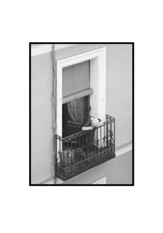 Luis Pita | Fotografía en Blanco y Negro | Black and White Photography | serie Balcones de Madrid | Balconies from Madrid series | Erik Stuborn | Cameradada | Neighbors | People watching life go | Gente mirando la vida pasar | Downtown Madrid | Malasaña Lavapies Districts | Luis Pita (2014) - Balcones - 01