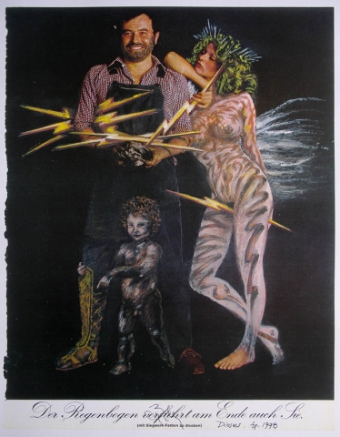 Luis Pita | Intervenciones | Interventions | Serie «Mitos y Apariciones» | series «Myths and Apparitions» | (1998) Dioses (Vulcano, Venus y Cupido)