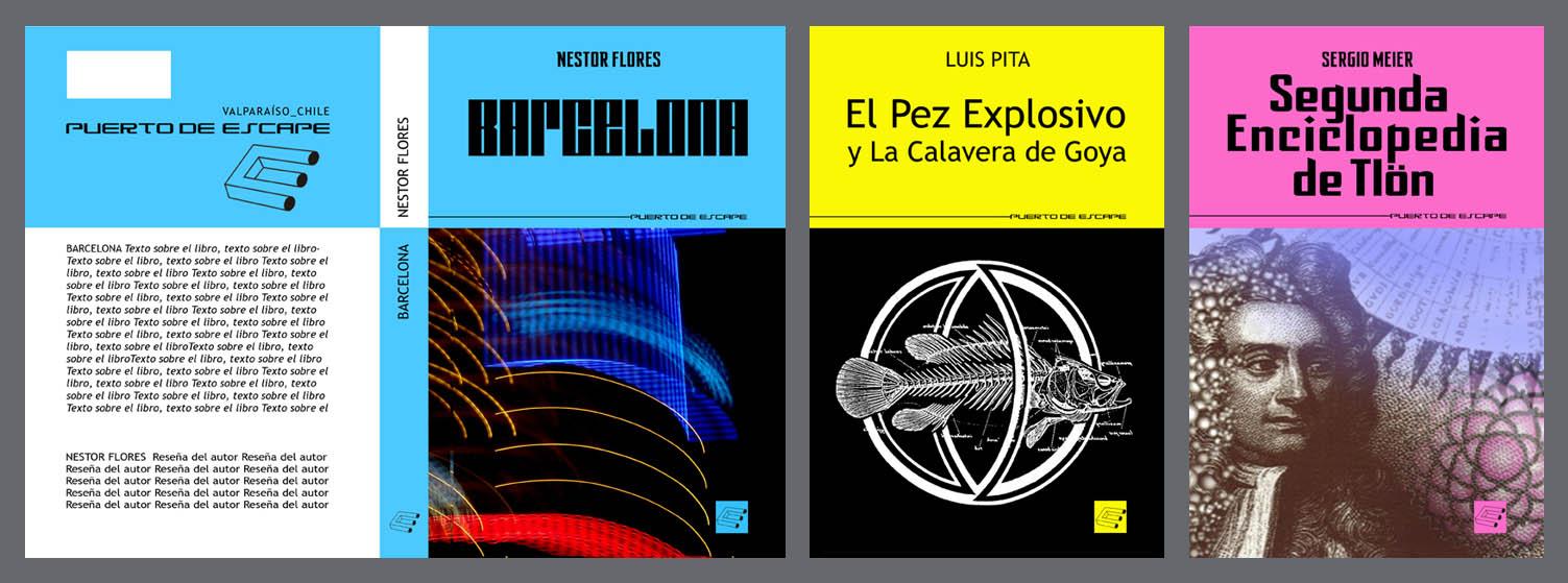 Luis Pita | Diseño de Coleccion | Book Design | Cover Design | Editorial Puerto de Escape | Science Fiction, Fantasy | DISEÑO EDITORIAL_ Diseño de Colección de Fantasía y Ciencia-Ficción_ Ed Puerto de Escape