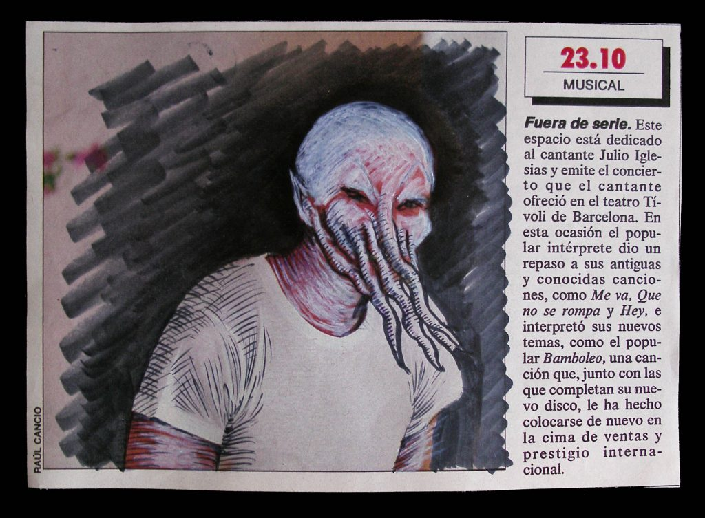 Luis Pita | Intervenciones sobre papel de periódico | Interventions on newspaper | The artist at play (1990)