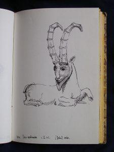 Luis Pita | Cuaderno de Apuntes de Viajes | Travel Sketchbooks | 014/ Bronce iraní - British Museum - London (1999)