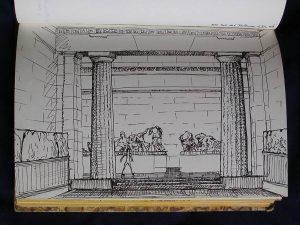 Luis Pita | Cuaderno de Apuntes de Viajes | Travel Sketchbooks | 015/ Sala del Parthenon - British Museum - London (1999)
