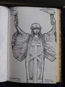 Luis Pita | Cuaderno de Apuntes de Viajes | Travel Sketchbooks | -017/ Porcelana de Sévres - Victoria & Albert Museum - London (1999)