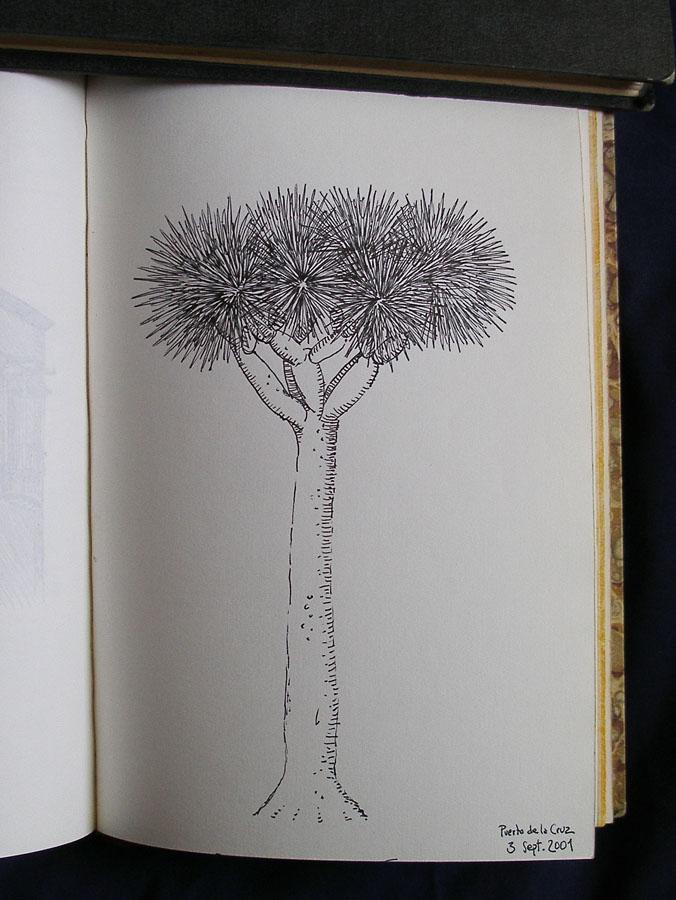 Luis Pita | Cuaderno de Apuntes de Viajes | Travel Sketchbooks | 019/ Puerto de la Cruz - Tenerife (2001)