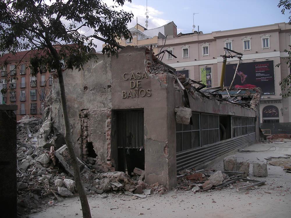 Luis Pita | Fotografía | Photography | Arquitecturas | Architectures | 2009 | Demolición de la Casa de Baños | La Latina | Madrid