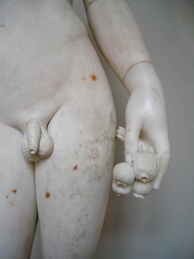 Luis Pita | Fotografía | Photography | Estatuaria | Statuary | (2004) Museo del Prado - Madrid | Spain | Marble male nude statue | Nepente | Opium seeds ancient greece | Semillas de opio antigua grecia | Estatua de marmol de joven desnudo |