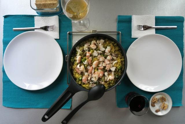 Luis Pita   Fotografía   Photography   serie Hora de comer   Lunchtime series    2016 02 - 003   Sailor Rice with saffron, prawns and monkfish   Arroz marinero con azafrán, langostinos y rape
