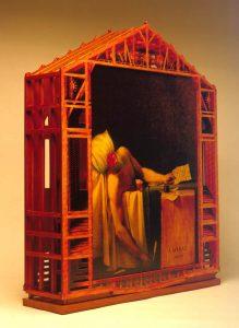 Luis Pita | Montajes tridimensionales | 3-Dimensional Assemblies | French Painting (a partir de dos cuadros sobre «La Muerte de Marat» de Louis David y de Pablo Picasso) (reverso) | (From two tables on «The Death of Marat» by Louis David and Pablo Picasso) (reverse)
