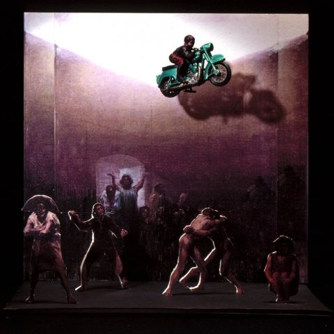 "Luis Pita | Montajes tridimensionales | 3-Dimensional Assemblies | (1996) El Vuelo del amigo (A partir del cuadro de Goya ""El corral de los locos"") 