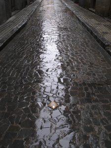 Luis Pita | Fotografía | Photography | Visiones exteriores | Exterior Visions | (2009) Calle lluviosa del Camino de Santiago - Pirineos | Spain | saint jacques way in a rainy street at the spanish Pyrenees |